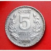10-37 Индия, 5 рупий 2000 г.