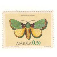 Ангола. Бабочка. 1 марка. Чистая.