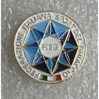 Официальный значок - Федерация зимних видов спорта (хоккея) Италии