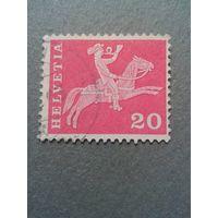 Швейцария. Стандарт. 1960г. гашеная