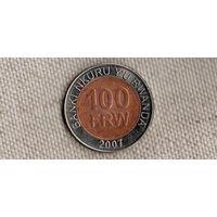 Руанда 100 франков 2007/блеск/ KM#32