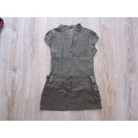"""Комплект """"милитари"""" сборный: блузка H&M + юбка D&G, р.42."""