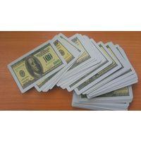 Карты игральные Доллары пластиковые пластик, колода карт, новые