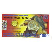 Галапагосские острова. 1000 сукре 2009 г. - состояние !
