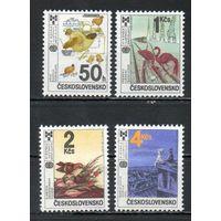 Иллюстрации к детским книгам Чехословакия 1987 год серия из 4-х марок
