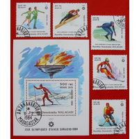 Мадагаскар. Спорт. ( Блок и 5 марок ) 1984 года.