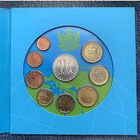 Сан-Марино годовой набор евро 2008г. (9 монет в официальном буклете, включая серебряные 5 евро Год Планеты Земля)