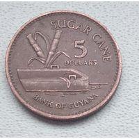 Гайана 5 долларов, 1996 6-6-30
