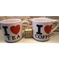 Очень большие чашки для кофе и чая, комплект, Италия, новые