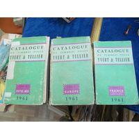 Французский каталог почтовых марок Ивер и Телье в 3-х томах, 1961 г.