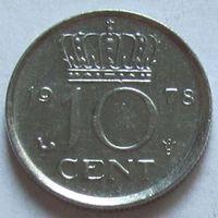 Нидерланды, 10 центов 1978 г