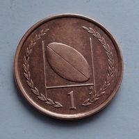 Остров Мэн 1 пенни. 1996