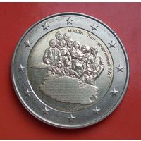 2 евро 2013 Мальта (юбилейная - Собственное правительство 1921 года)