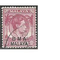Малайя(Британская военная администрация). Король ГеоргVI. Пальмы. 1945г. Mi#7с.