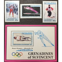 Сент-Винсент и Гренадины Зимняя олимпиада 1992г.