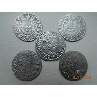 РАСПРОДАЖА КОЛЛЕКЦИИ!!! 3 гроша ( трояк) 1623 г. Сигизмунд - III + полтораки  4 шт. ( всё одним лотом ) распродажа с 1 - го рубля, без минимальной цены ! Только на 3 дня !!!