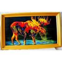 Картина холст , акрил 30х55 см.(цена без рамы).