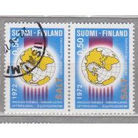 Финляндия СОЛТ переговоры в Хельсинки 1972 год лот 4 Сцепка ЧИСТАЯ и гашеная менее 31% то каталога можно раздельно