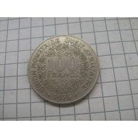 Западная Африка 100 франков 1976г.km4