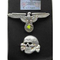 """Орел и """" голова"""" фуражки SS(копия).Германия.3 Рейх."""
