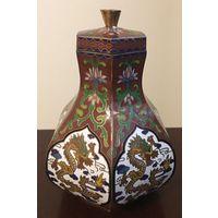 Китайская вазочка клуазоне 2-я пол. ХХ века