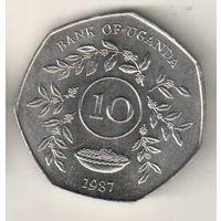 Уганда 10 шиллинг 1987