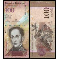 Венесуэла 100 боливаров образца 2013 года UNC p93g