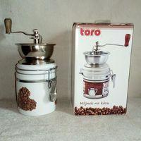 Кофемолка ручная механическая с керамическими жерновами с керамической банкой 8,5х17 см по назначению для декора или переделки