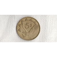 Намибия 5 долларов 1993 фауна//(МJ)
