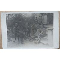 Фото группы товарищей (НКВД?) 1920-30-е. 9х14 см