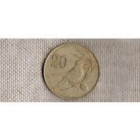 Кипр 20 центов 1983/фауна/птица(Li)