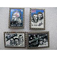 Значки. Космонавты и космические корабли (керамическая вставка). цена за 1 шт.