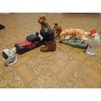 Фарфоровые статуэтки. 6 шт