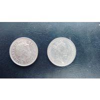 10 пенсов 2001 и 1992 годов.
