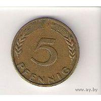 Германия, 5 pfennig, 1950г