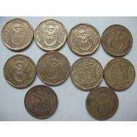 ЮАР 20 центов 1993г.1994г.1999г.2002г.2003г.2008г.2009г.