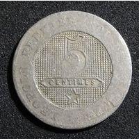 Бельгия 5 сантимов 1862 г.