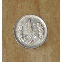 Узбекистан 1997 1 сум AUNC