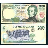 Венесуэла 2000 боливар 1998 UNC