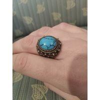Кольцо старинное с бирюзой