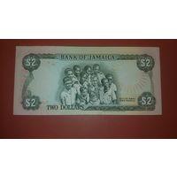 Банкнота 2 доллара Ямайка  1993