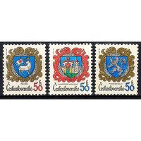 1982 Чехословакия. Гербы городов