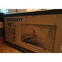 """Телевизор Horizont 43LE5173D, 43"""" 1920x1080 (Full HD), матрица IPS, 50гц, экономичный 75 Вт, встроенные динамики 16вт (2*8),  выходы; MXL, 3 HDMI, 2 USB, VGA, под наушники, вес 7,8кг. Черного цвета, в"""