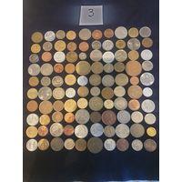 Монеты экзотика-100шт