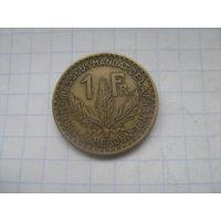 Французский Камерун 1 франк 1925г.*km2