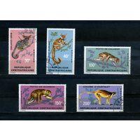 Центальноафриканская Республика 1971г, животные, 5м.
