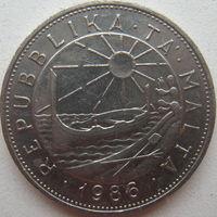 Мальта 1 лира 1986 г.