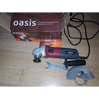 Болгарка Oasis AG-72/125, новая, ORIGINAL, на гарантии, полный комплект