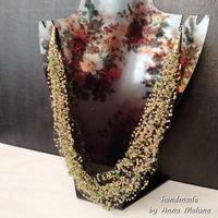 """Воздушное ожерелье ручной работы """"Летние травы"""" из бисера"""