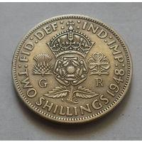 2 шиллинга, Великобритания 1948 г., Георг VI